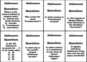 Printable Halloween Trivia Games for Parties