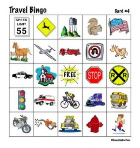 Road Trip Bingo for Toddlers