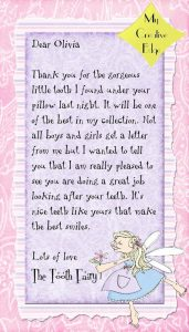 Thank You Letter from Tooth Fairy