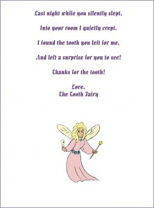 Tooth Fairy Letter Misplaced Tooth