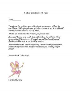 Tooth Fairy Letter Template Printable