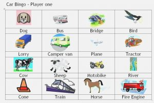 Travel Bingo for Toddlers