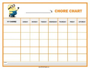 Free Printable Chore Charts for 10 Year Old Charts