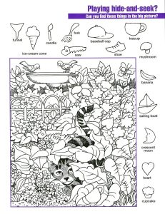 Hidden Picture Worksheets for Adults