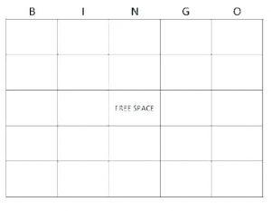 Human Bingo Template Blank