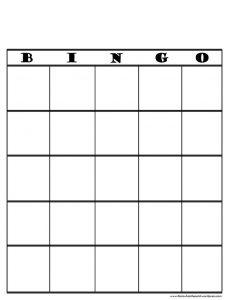 People Bingo Blank Template