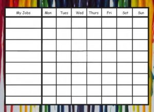 Printable Chore Chart Pictures