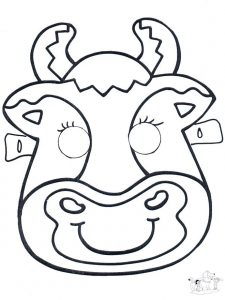 Printable Cow Face Mask Template