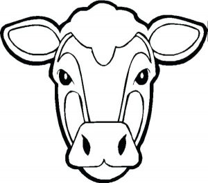 Printable Cow Mask Pattern