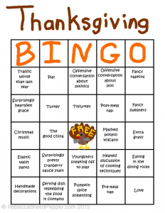 Thanksgiving Bingo with Pictures