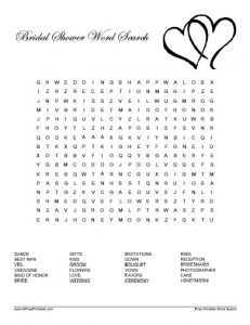 Baby Shower Word Search Template