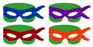 Cut Out Ninja Turtle Mask Template