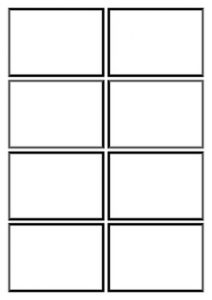 Double Sided Flash Card Template