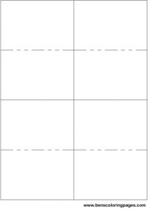 Flash Card Template with Lines