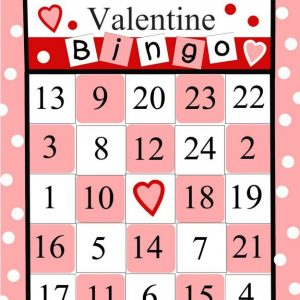 Free Printable Bingo Cards for Valentine's Day