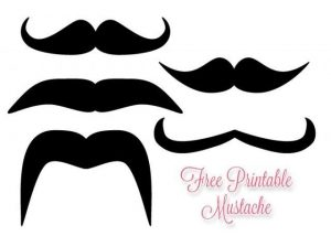 Free Printable Mustache Template