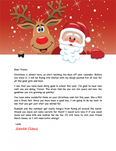 Free Printable Santa Reply Letter Template