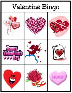Free Printable Valentines Day Picture Bingo Cards
