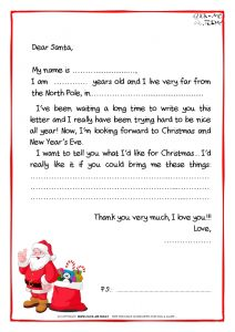 Letters to Santa Claus Template