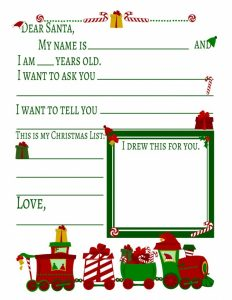 Santa Letter Template to Print