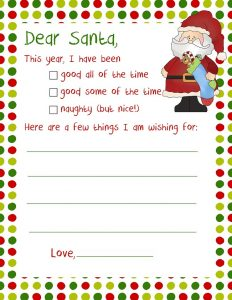 Santa Letters Templates to Print