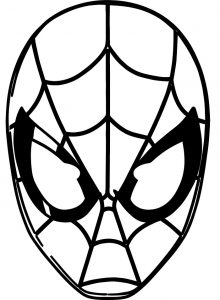 Spiderman Face Mask Printable