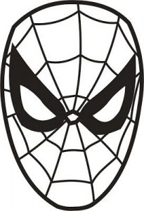 Spiderman Mask Template for Kids