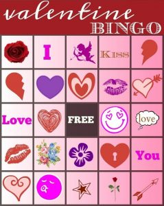 Valentine Day Bingo Cards Printable Free