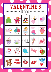 Valentine Day Bingo Game Cards