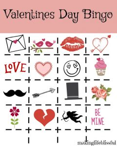 Valentines Day Bingo for Kids