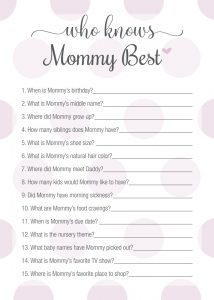 Who Knows Mommy best Game Photos
