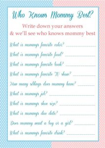Who Knows Mommy best Game Questions