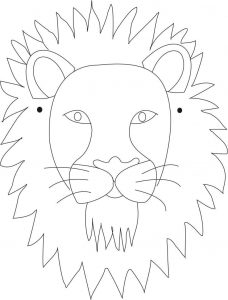 Adult Lion Mask Template