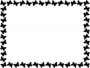 Black Butterfly Border
