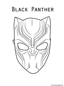 Black Panther Mask Paper Template