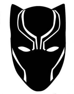 Black Panther Template Mask