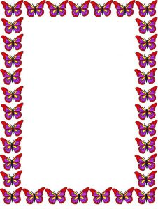 Butterfly Border Paper Printable