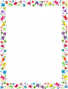 Butterfly Border Template