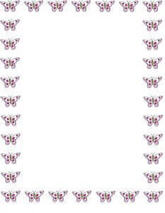 Butterfly Border Writing Paper