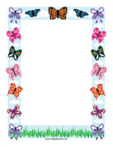 Butterfly Page Border
