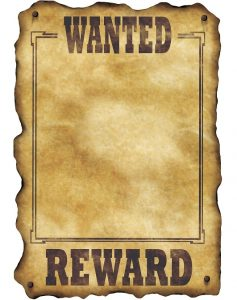 Cowboy Wanted Poster Template