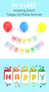 Free Printable Birthday Party Banner