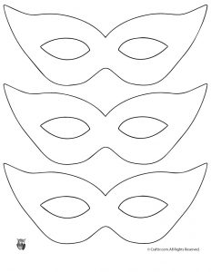 Free Printable Mardi Gras Mask Templates