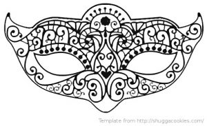 Free Printable Masquerade Mask Template