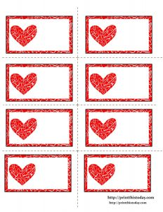 Free Printable Valentines Day Name Tags