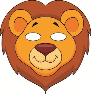 Lion Mask Template