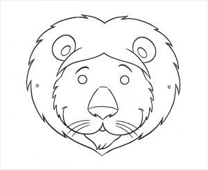 Lion Mask Template for Preschoolers