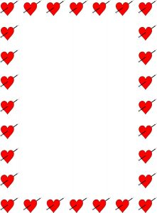 Love Heart Page Border