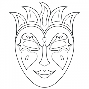 Mardi Gras Face Mask Template