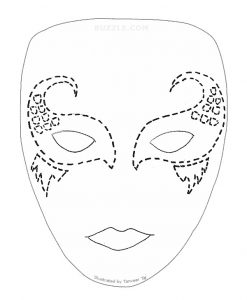 Mardi Gras Full Face Mask Template